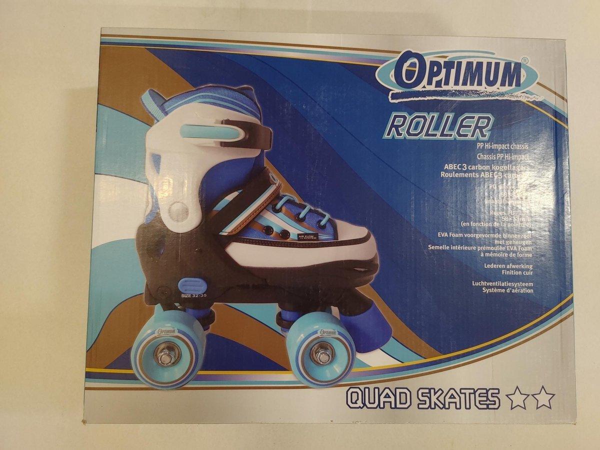 Optimum Roller - Verstelbare Quad skates blauw maat 36-39 - Rolschaatsen
