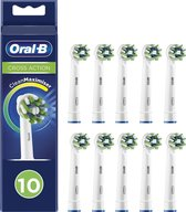 Oral-B CrossAction - Opzetborstels - 10 stuks - Wit