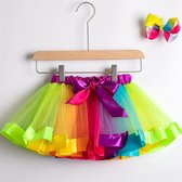 Gekleurde meisje tutu rok - tule meisjes rok - Regenboog kleuren meisjes rok - maat 98-104 - meisjes rok 2 - 4 jaar