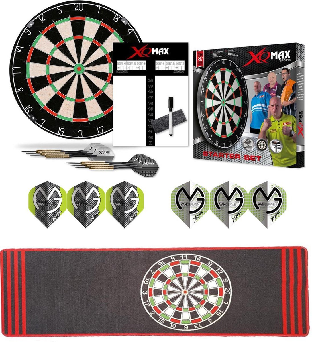 Dragon Darts MvG Antra complete dartset - dartbord - dartmat - dart shafts - dart flights - 2 sets - dartpijlen - dartset