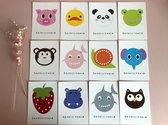 Dieren Kaartenset - 12 stuks - Ansichtkaarten - Wenskaarten - Gefeliciteerd - Kinderkaarten - Verjaardag - Geboorte