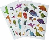 Kinder tattoo - Dino2 - Dino tattoo - 5 vellen - Tijdelijke tattoo - Jongen - Meisje - Nep Tattoo