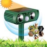 Ultrasone dierenverjager op zonne energie - Geschikt voor katten, vogels, marters, ongedierte - Groot bereik