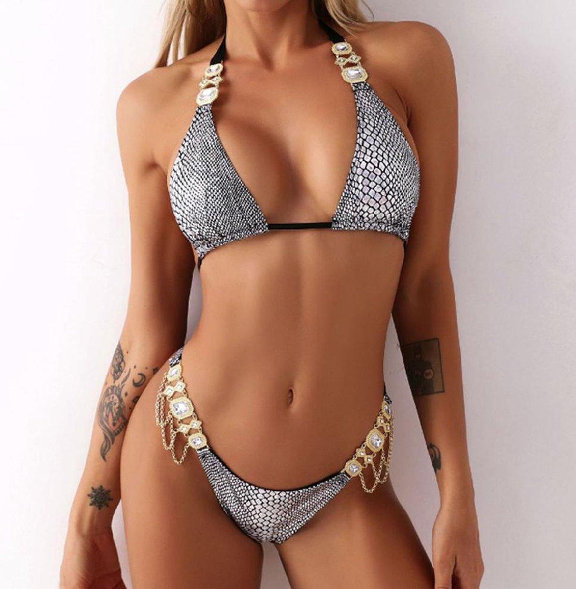 Trendy Bikini - Juwelen bikini's - Bikini - Strandmode - Hippe bikini - Slangen print