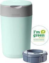 5. Tommee Tippee Milieuvriendelijke Twist & Click Luieremmer - met 1  Navulcassette - Groen