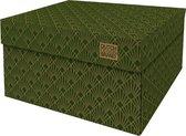 Dutch Design Brand - Dutch Design Storage Box - Opbergdoos - Opbergbox - Bewaardoos - Roaring 20's - Art Deco Velvet Green