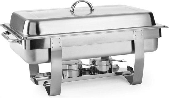 Hendi Chafing Dish Fiore - RVS 18/0 - GN 1/1 - 9 Liter - 60x35,8x(H)29,5cm