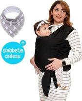 Baby Garden draagdoek zwart - Ergonomisch - Original - Gratis slabbetje