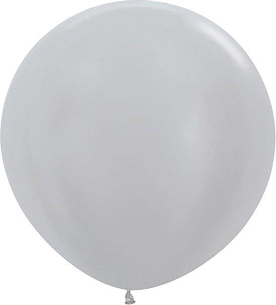 Sempertex ballonnen 61cm Pearl Silver 481 (10 stuks)