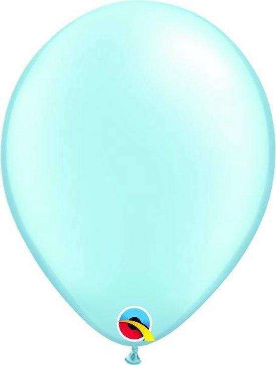 Ballonnen Pearl Licht blauw 45 cm 5 stuks