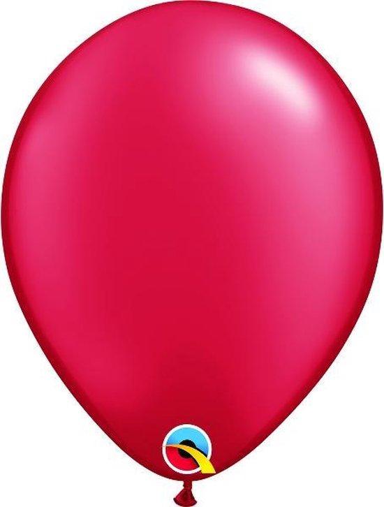 Ballonnen Pearl Ruby Red 45 cm 5 stuks