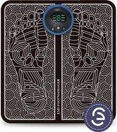 eShopper Voetmassage Stimulator – Voetmassage Apparaat – Spierstimulator – Acupunctuur Mat - Acupressuurmat – EMS – Draadloos - Zwart