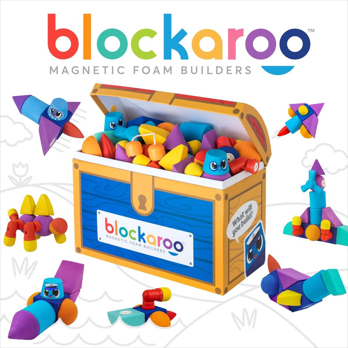 Blockaroo schatkist box-100 stuks-magnetisch speelgoed-peuter speelgoed-speelgoed 1,5 jaar-badspeelgoed-badspeeltjes