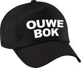 Ouwe bok verjaardag pet / cap zwart voor heren - 60 jaar geworden - verjaardagscadeau