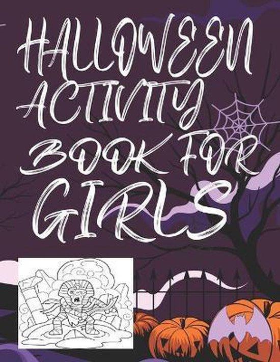 Halloween Activity Book for Girls