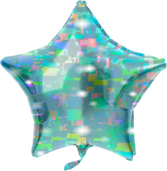 24in/61cm Transp. Aqua Star
