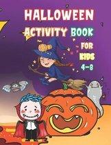 Halloween Activity Book for kids 4-8