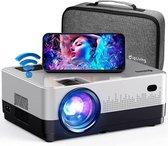 UpLiving™ LCD Mini Beamer met WiFi | Met Bluetooth | Input tot Full HD | 7.500 Lumen | Projector - Mini Beamer - Draagbare Pocket Beamer - Afstandsbediening - Draagtas