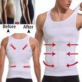 Corrigerend Hemd Mannen -Houding correctie hemd/shirt - Body Buik Shapewear Shirt -  Slim Waist Shaper - Figuurcorrigerend Correctie Ondershirt - Postuur Corrector . Maat M