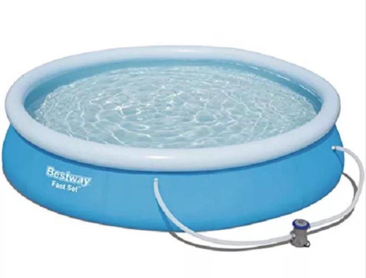 Bestway - FastSet - Zwembad - 457x84 - Ultiem water en zwem plezier - Inclusief Pomp 12 Volt