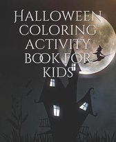 Halloween coloring activity book for kids