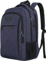 TravelMore Rugzak - Schooltas - 15,6 inch Laptop Rugtas - Dames/Heren - 28L - Waterafstotend - Blauw