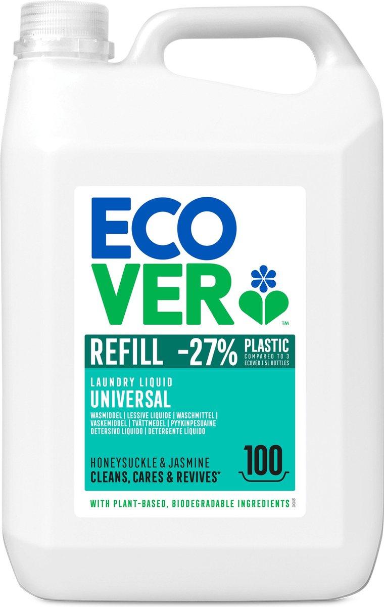 Ecover Vloeibaar Wasmiddel Universeel 5L - Kamperfoelie & Jasmijn - Voordeelverpakking 100 wasbeurte