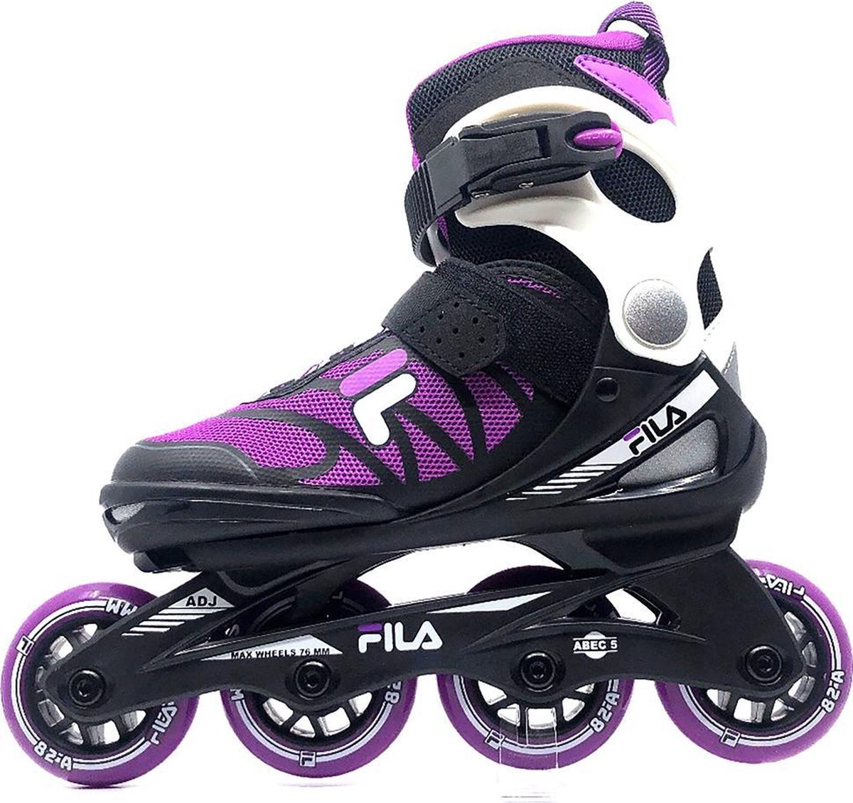 Fila - Verstelbare inline skates - J one - 21' - Maat 32-36 - Magenta - Zwart