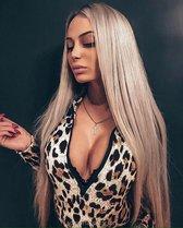 Pro-Care Ombre Licht Blond Straight Kleur Pruik Dames - 70cm Straight Haar - Wig - Verstelbaar - Vederlicht 260g