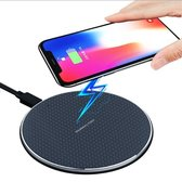 Trendfield Qi Draadloze Oplader iPhone Samsung - Fast Charger 10W - Wireless Charger Universeel - Zwart