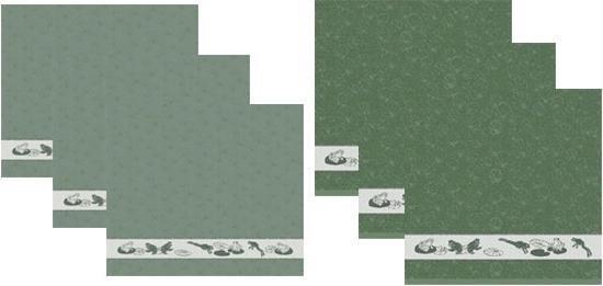 DDDDD Keukendoeken En Theedoeken Set Frog Green (3+3 stuks)