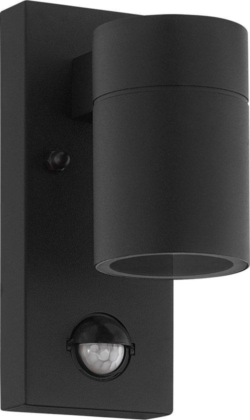 EGLO Riga 5 Wandlamp Buiten - Sensor - GU10 - 16,5 cm - Sensor - Zwart