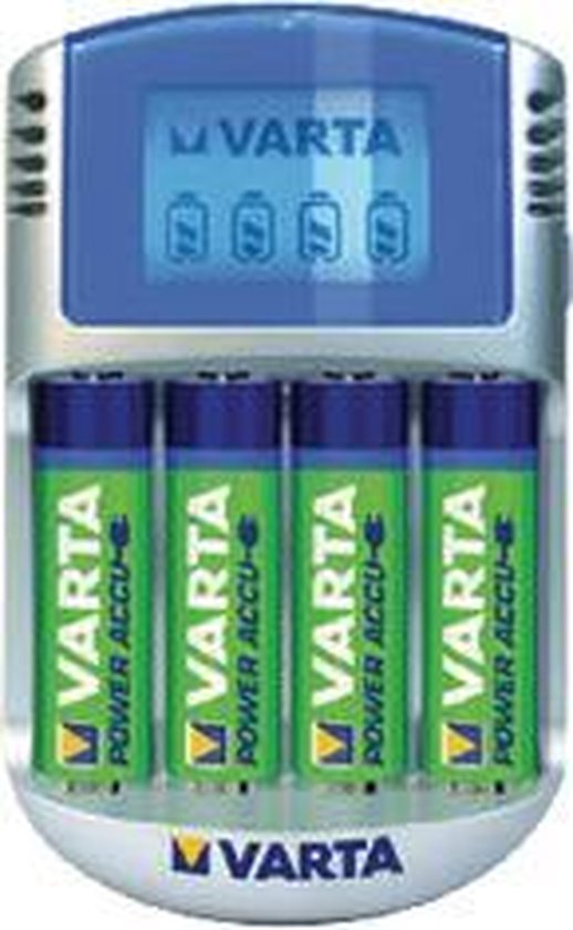 Varta LCD Charger + 4 x 2600 mAh NiMH batterijen - Varta