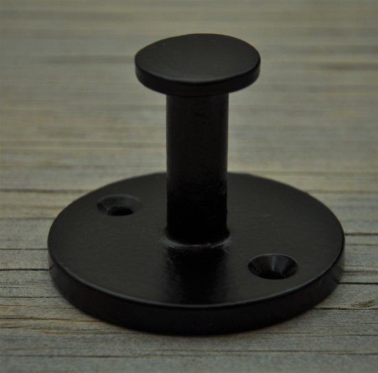 "Harvey's Home   handdoekhaak/kapstokhaak  ""Ripon"" haak (short)   zwart, br. 5 cm, komt 4 cm naar voren"