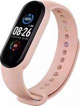 Smartwatch Stappenteller - Sport horloge - Activity Tracker - Bloeddrukmeter - Hartslagmeter - Afstandmeter - Calorieënteller - Fitness Tracker - Zuurstofmeter - Alternatieve Fitbit- Kleur Licht Roze - Cadeau - Gratis verzending