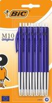 Balpen BIC M10 M blauw/blister 10