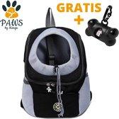 Mangu Paws Rugzak Hond onderweg - Puppy - Kat - Huisdieren - Draagtassen - Rugzak voor honden - Honden rugzak - Maat XL - Zwart