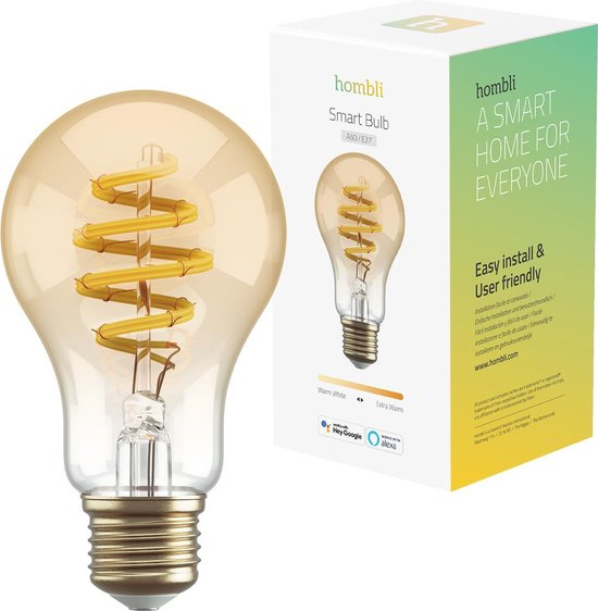Hombli Smart Filament Bulb E27 A60 – Warmwit licht