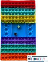 FIDGET TOYS - POP IT - XXXXXL GROOT FORMAAT - DOBBELSTEEN GAME - RAINBOW COLOR