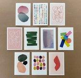 Paperoni - Set van 10 luxe dubbele Wenskaarten (16cm) incl. bijpassende envelop - kaartsenset