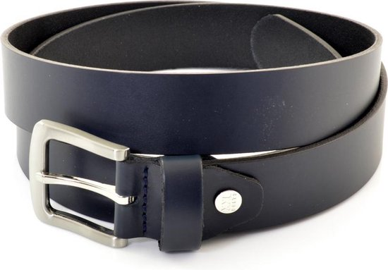 XXL Belts heren- & damesriem Jeans 673 – donkerblauw – 145 cm
