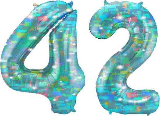 Cijfer 42 Galactic Aqua (86cm)