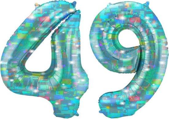 Cijfer 49 Galactic Aqua (86cm)