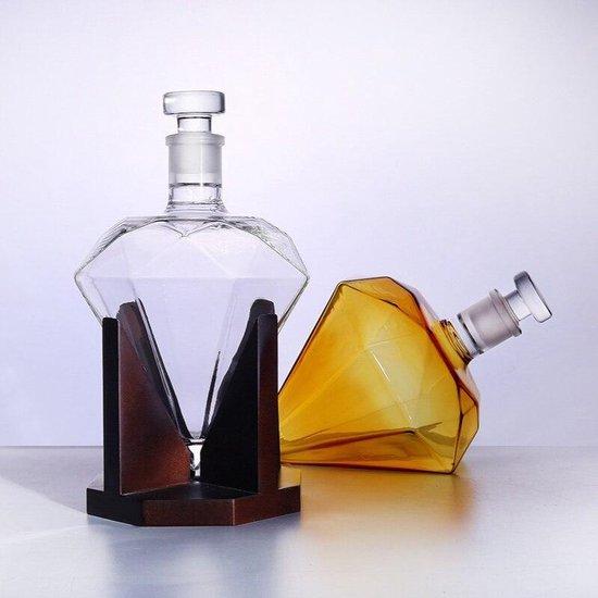 Whiskey Karaf - Whiskey Decanter Diamond - Diamant- Luxe Whisky Karaf - 850ml - Decanteer karaf - Whiskey Liefhebber - Cadeautip