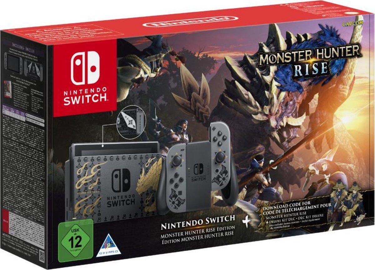 Nintendo Switch Console - Zwart - Nieuw model - Monster Hunter Rise Limited Edition
