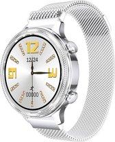 SmartWatch-Trends SM3 - Smartwatch - Hartslagmeter -Zuurstofmeter - Dames Watch - Zilverkleurig