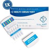 Telano - Multi Drugstest Urine test op 10 Soorten Drugs - Cannabis THC - Cocaïne - Speed - Ecstasy - Ketaminen - Metamfetamines - Heroïne - Benzodiazepinen - Methadon - Slaapmiddelen - 1 stuks