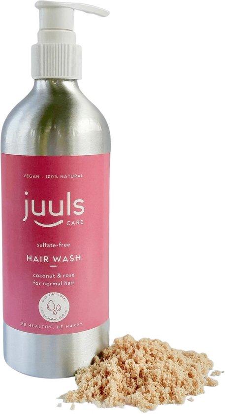 Juuls Care - Vegan Shampoo - Kokos & Rozen - Love The Planet - Zelf Water Toevoegen - Zonder Parabenen - Zonder Sulfaten - Halal - 25 gr - 300 ml