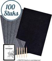 Trizzle  Carbonpapier 100 stuks Zwart A4 – Overtrekpapier - Hobby - Tekenen - Kunst
