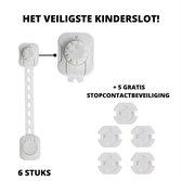 DailyNeeds dubbel beveiligd kinderslot + GRATIS stopcontactbescherming  - Kinderslot Kastjes - Kinder Beveiliging -  Deurbeveiliging - Babyslot - Veiligheidsslot - Kinderbeveiliging voor stopcontact – Stopcontactbeschermers